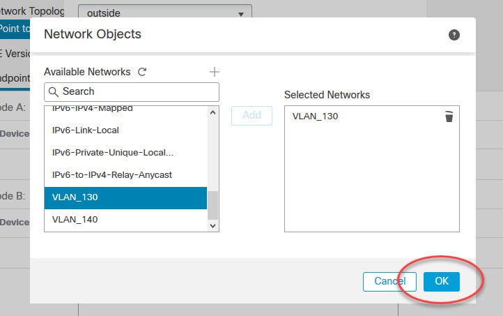 FMC site to site VPN