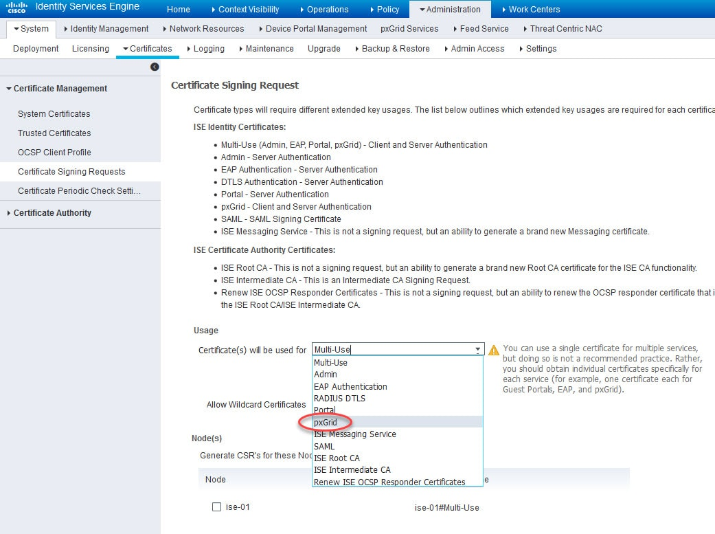 Integrate FMC with ISE pxGrid