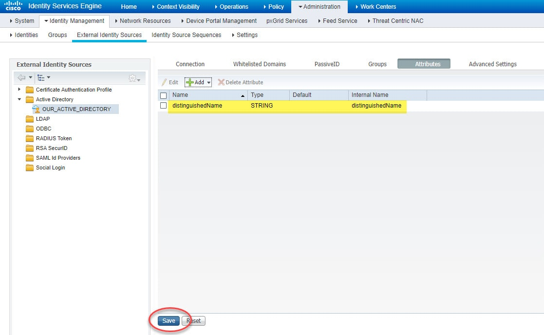 Using Active Directory OUs in ISE