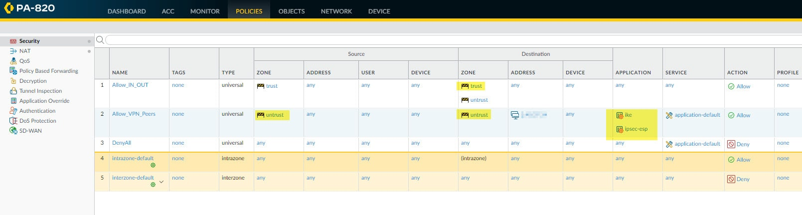 Palo Alto Site to Site VPN with ASA