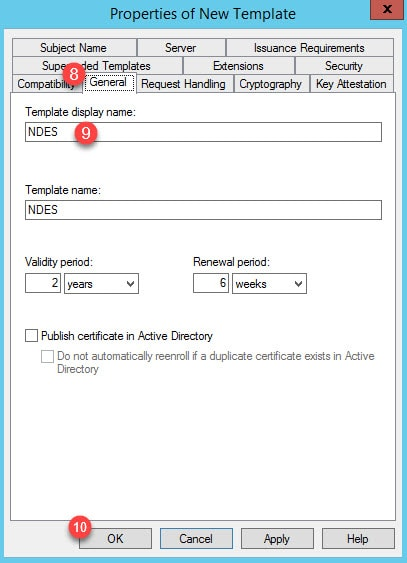 The ID certificate associated with trust-point contains an Extended Key Usage (EKU) extension but without the Server Authentication purpose 7